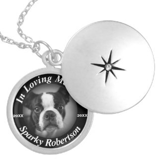 銀製犬の記念物 シルバープレートネックレス