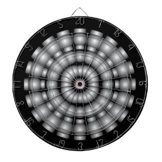 銀製球のダート盤 ダーツボード