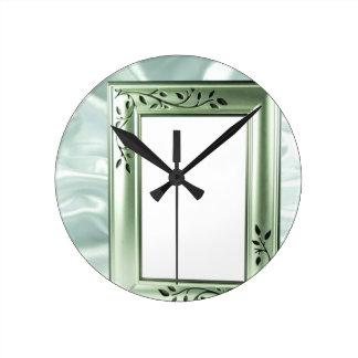 銀製結婚式フレームのデザイン ラウンド壁時計