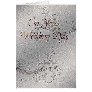 銀製結婚式 カード