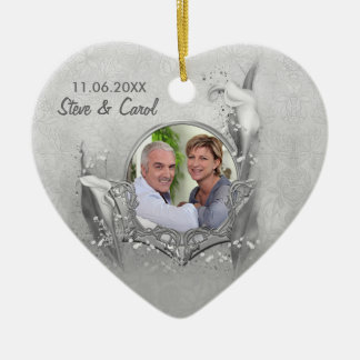 銀製記念日のオランダカイウの写真の記念品 セラミックオーナメント