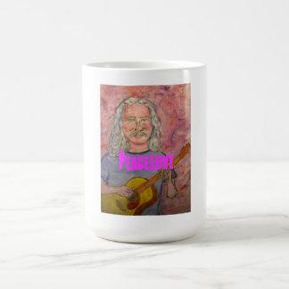 銀髪の民俗ロッカーPeaceLove コーヒーマグカップ