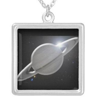 銀|土星 パーソナライズネックレス