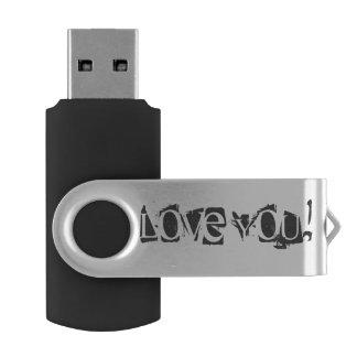 -銀、16 GB、黒愛して下さい USBフラッシュドライブ