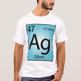 銀(Ag)の要素のTシャツ-前部だけ Tシャツ