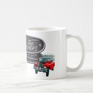 銃および粗紡機の赤の粗紡機 コーヒーマグカップ