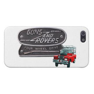 銃および粗紡機の赤の粗紡機 iPhone 5 ケース