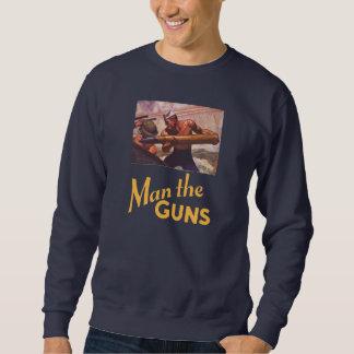 銃に人を配置して下さい スウェットシャツ