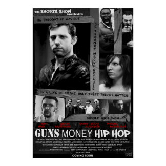 銃のお金のヒップホップポスター ポスター