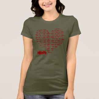 銃のハート Tシャツ