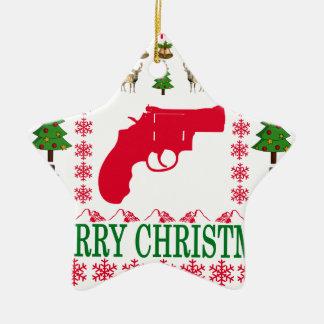 銃のメリークリスマス。 セラミックオーナメント