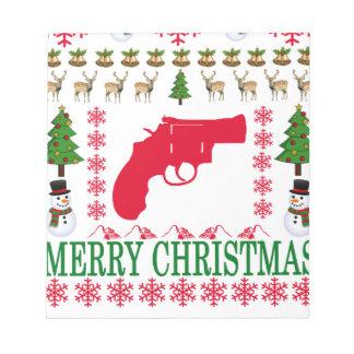 銃のメリークリスマス。 ノートパッド