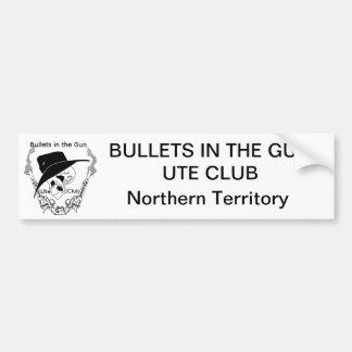 銃のユート族の弾丸はバンパーステッカー- NT --を協力させます バンパーステッカー