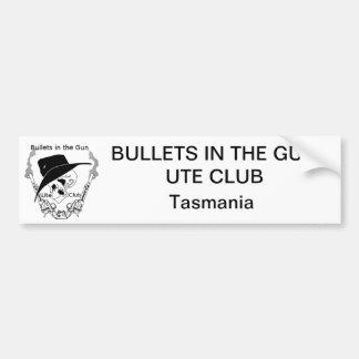 銃のユート族の弾丸はバンパーステッカー- TAS --を協力させます バンパーステッカー