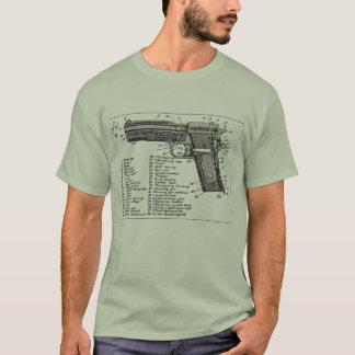 銃の図表 Tシャツ