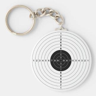 銃の射撃練習場の雄牛目ターゲット記号 キーホルダー
