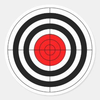 銃の射撃練習場の雄牛目ターゲット記号 ラウンドシール