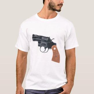 銃の射撃、発砲のピストル火器のTシャツ Tシャツ