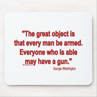 銃の権利-ジョージ・ワシントン マウスパッド