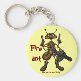 銃の漫画の芸術のkeychainを持つおもしろいな火蟻 キーホルダー