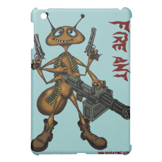 銃の漫画の芸術Iのパッドの箱を持つおもしろいな火蟻 iPad MINIケース