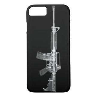 銃の高い詳細のX線からの実質AR-15 CTスキャン iPhone 8/7ケース