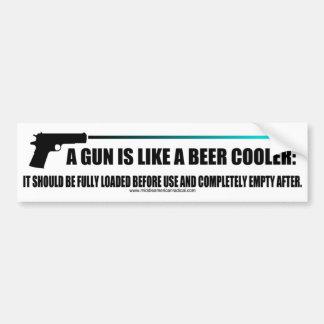 銃はビールクーラーのようです バンパーステッカー