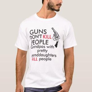 銃は人々を殺しません Tシャツ