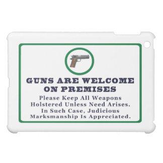 銃は前提印で歓迎されています iPad MINIケース