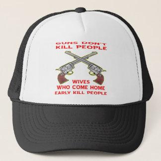 銃は家に早く来る人々の妻を殺しません キャップ