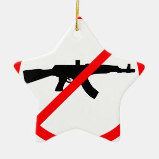 銃を拒否して下さい セラミックオーナメント