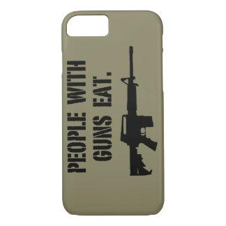 銃を持つ人々は電話箱を食べます iPhone 8/7ケース