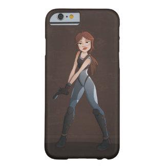 銃を持つ女の子 BARELY THERE iPhone 6 ケース