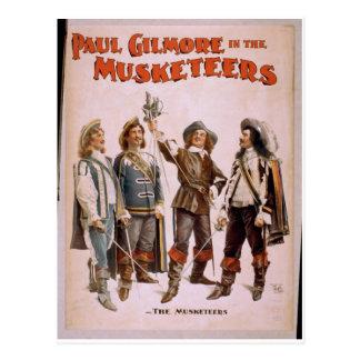 銃兵、「ポールGilmore」のレトロの劇場 ポストカード