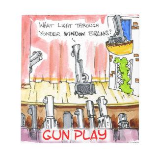銃撃戦のおもしろいな漫画 ノートパッド