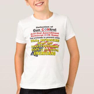 銃砲規制のアンチ第2修正の民主党員のコンゲーム Tシャツ
