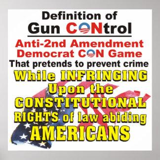 銃砲規制のアンチ第2修正の民主党員の詐欺ポスター ポスター