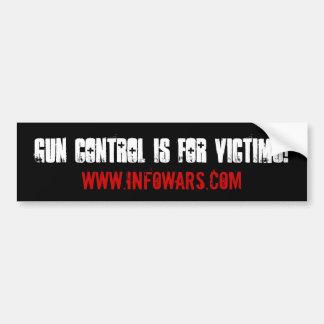 銃砲規制は犠牲者のためです! バンパーステッカー