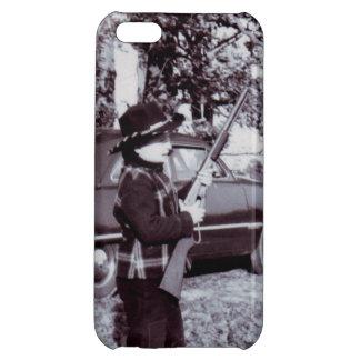 銃50sを持つヴィンテージの写真のかわいく小さいカウボーイ iPhone 5C カバー