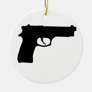 銃 セラミックオーナメント