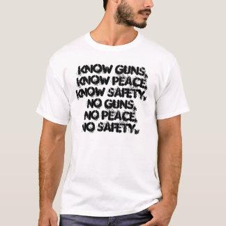 銃、平和、安全 Tシャツ