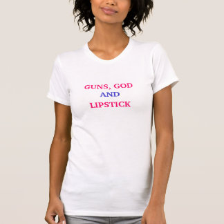 銃、神、および、口紅 Tシャツ