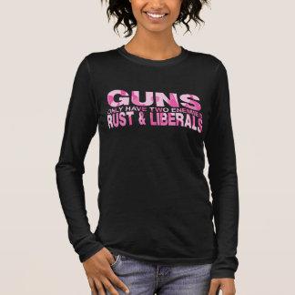 銃 長袖Tシャツ