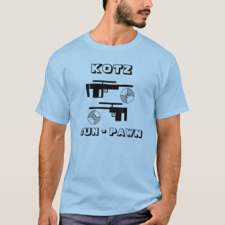 銃、KOTZの銃-担保 Tシャツ
