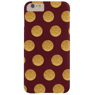 銅およびバーガンディの水玉模様 BARELY THERE iPhone 6 PLUS ケース