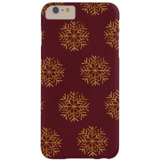 銅およびバーガンディの雪片の電話箱 BARELY THERE iPhone 6 PLUS ケース