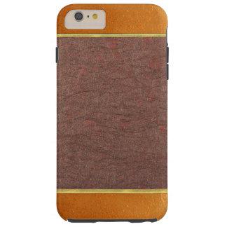 銅および青銅の織り目加工の電話箱 TOUGH iPhone 6 PLUS ケース