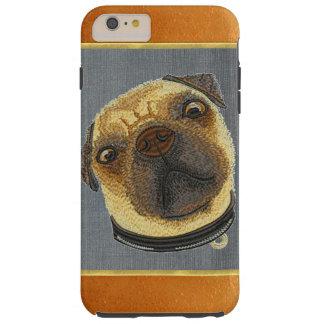 銅のきらめくのパグの小犬のiPhone 6のプラスの場合 Tough iPhone 6 Plus ケース
