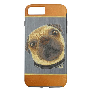 銅のきらめくのパグの小犬のiPhone 7のプラスの場合 iPhone 7 Plusケース