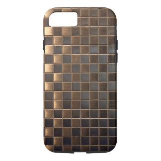 銅のアルミニウム効果のタイル iPhone 8/7ケース